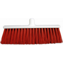 Stiff heavy duty broom 40cm red