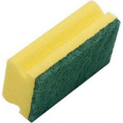 Heavy duty sponge scourer - with green abrasive