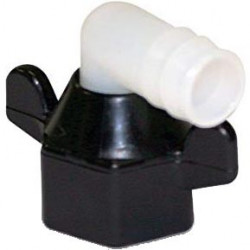 Shurflo 1/2 barbed wingnut elbow fitting
