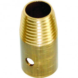 Lewi brass adapter for broom
