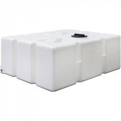 """1000L Flat Baffled Tank with 1"""" Outlet in Base"""