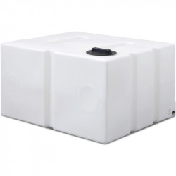 """800L flat Baffled Tank with 1"""" Outlet in Base"""