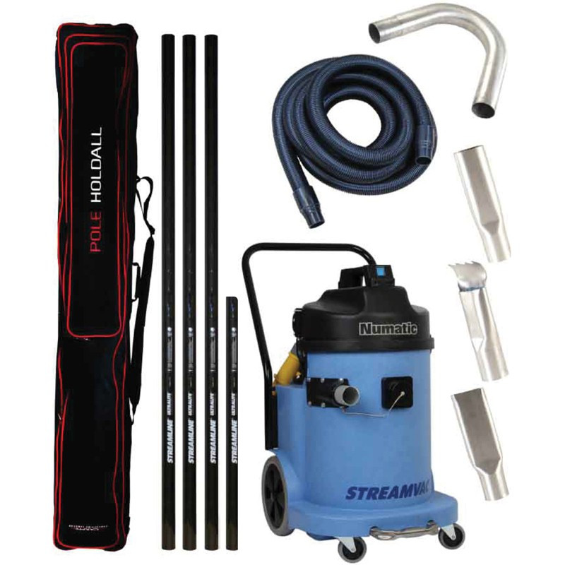 Streamvac Gutter vacuum system 230V with pole