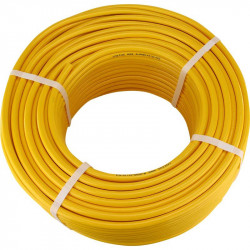 100m Yellow Minibore Reinforced hose 13.5mm x 8mm