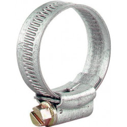 "Hose clip Zinc plated 12-20 mm for 1/2"" hose."
