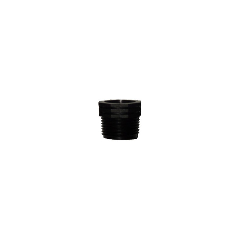 "Plastic reducing bush 1"" male and 3/4"" female thread"