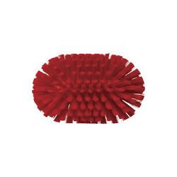 Vikan stiff red large wheel rim brush, waterfed, 240 mm