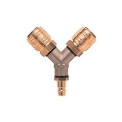 HP Male to Female splitter - brass