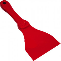 Red Plastic Chewing Gum Scraper 4""