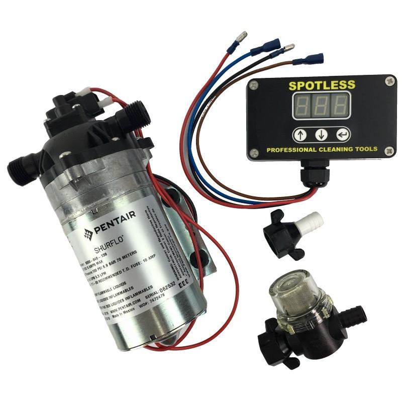 100psi Shurflo Pump / Variflo+ Digital / Fittings and Strainer
