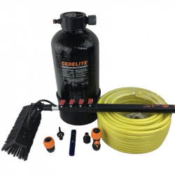 Domestic pure water fed pole window cleaning system