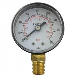 "Pressure gauge 0-140psi with 1/4"" thread"