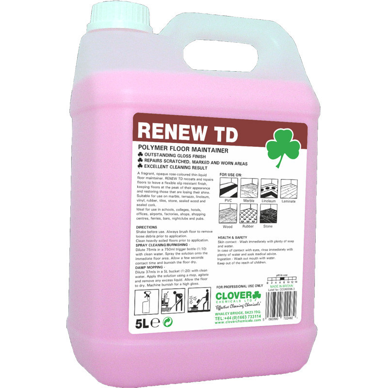 Clover Renew TD Polymer Floor Maintainer 5L