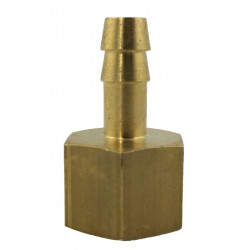 "Brass hose tail 8mm with FEMALE 1/4"" thread"
