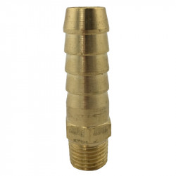 "Brass hose tail 1/2"" with 1/4"" thread"