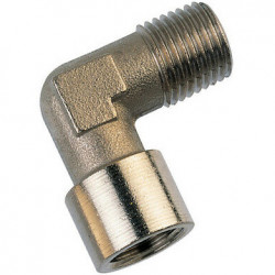 equal elbow brass plated...