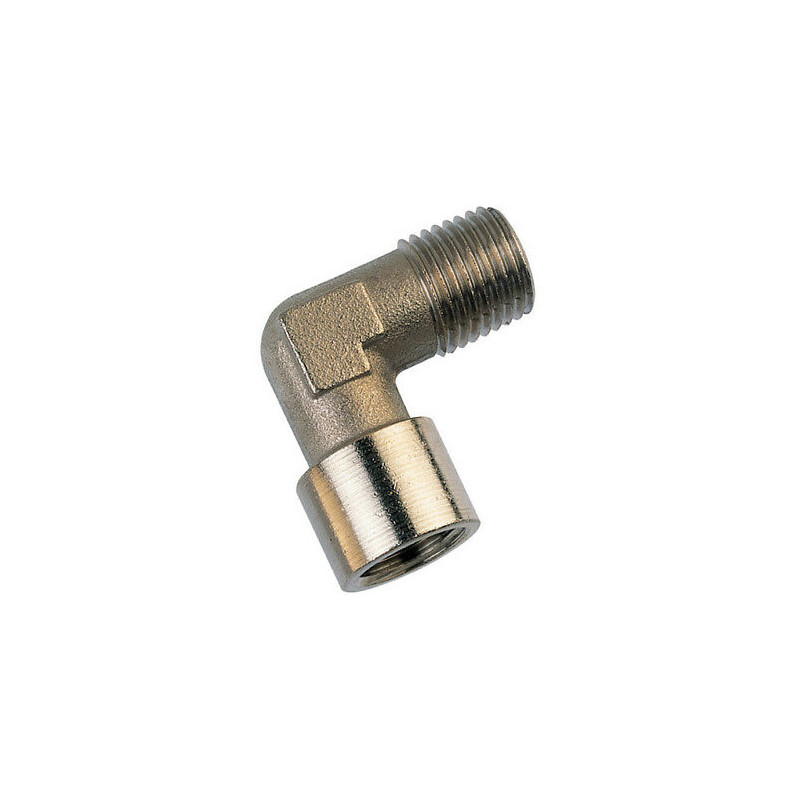 """equal elbow brass plated 1/2"""" M/F"""