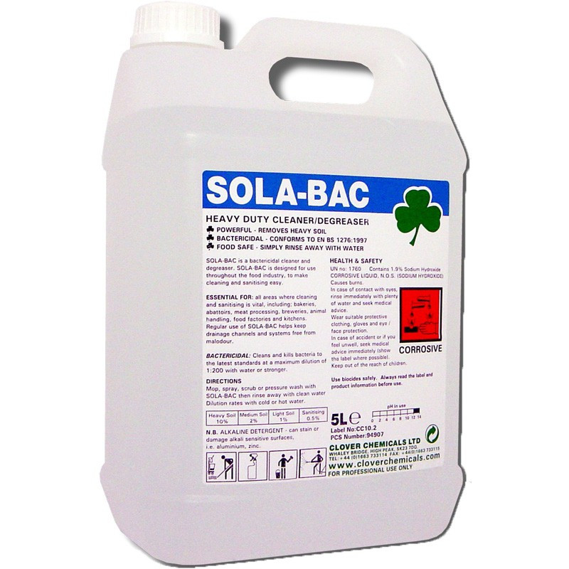 Clover Sola-bac Heavy Duty Bactericidal Cleaner 5L