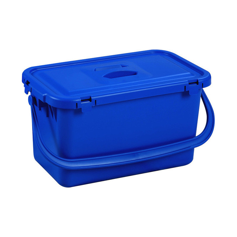 Blue Window Cleaning Bucket With Lid - 15 L