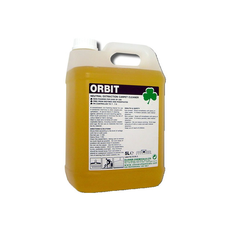 Clover Orbit Neutral Extraction Cleaner for Carpets 5L