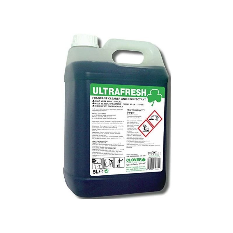 Clover Ultrafresh Fragrant Cleaner and Disinfectant 5L