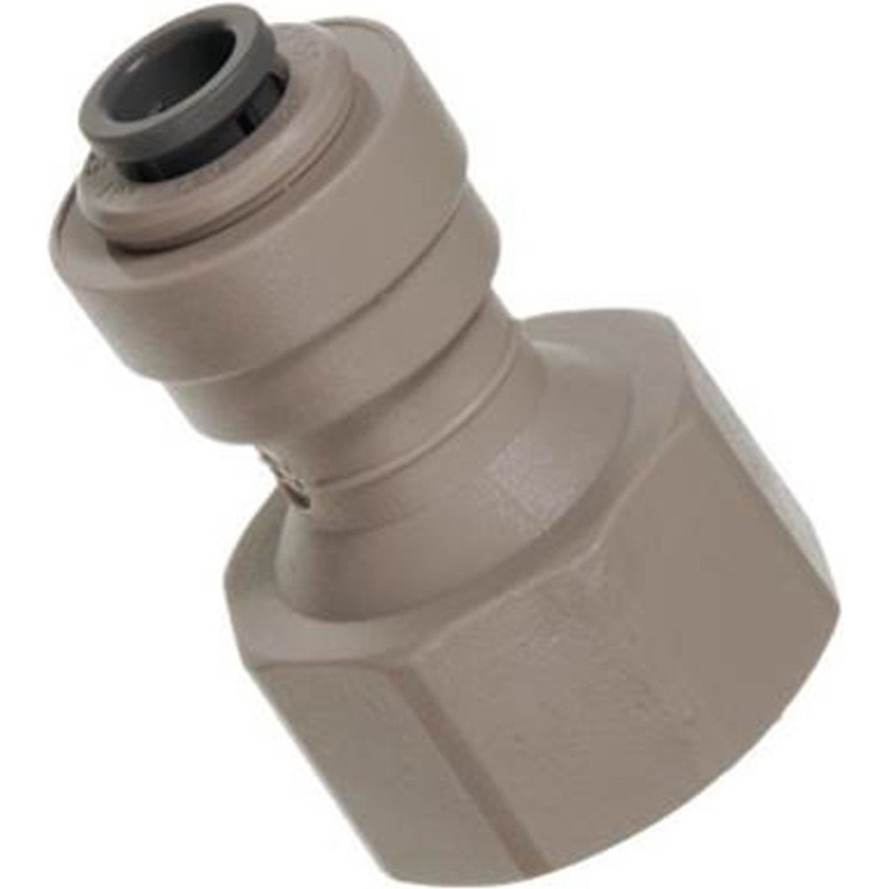 John Guest type female adapter 1/4 tube X 1/2 thread