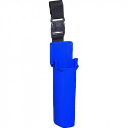 Blue bucket on a belt