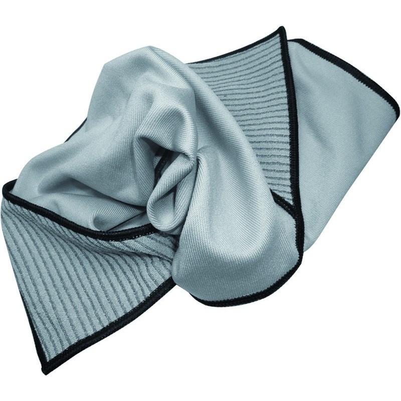 Premium Glass Cloth with corner scrubbing pockets 55 X 55 cm