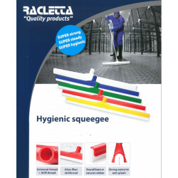 White hygienic squeegee 60cm with white natural rubber