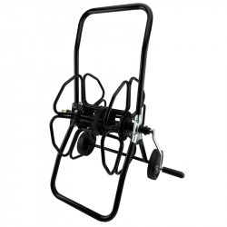 Wheeled metal hose reel 100m
