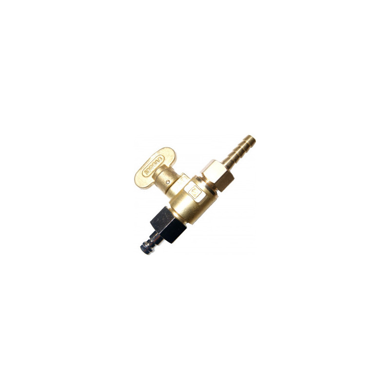 Male brass tap kit for microbore