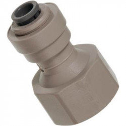 John Guest type female adapter 3/8 tube X 1/2 thread