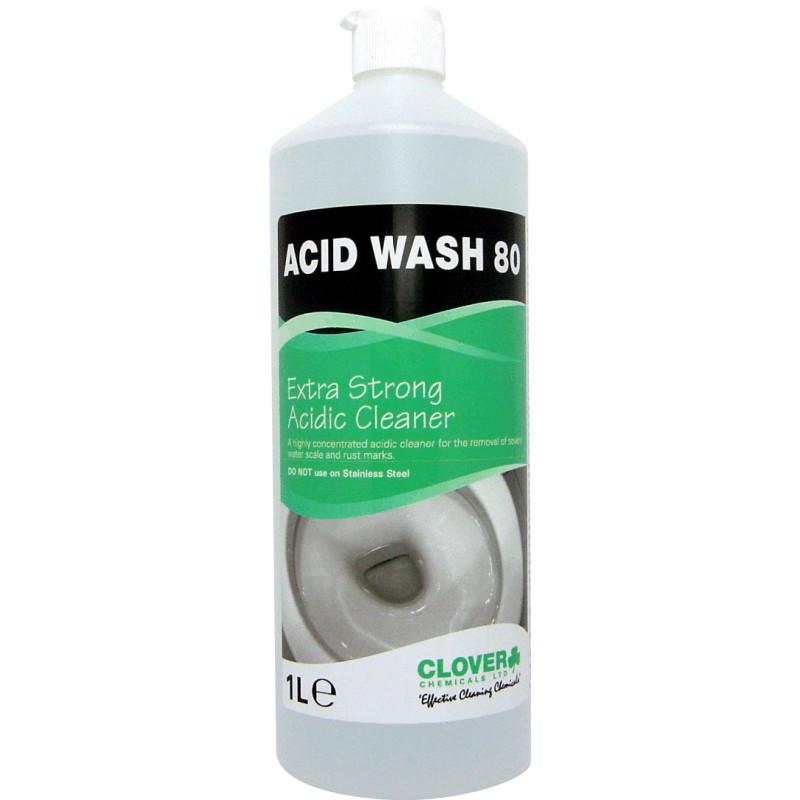 Clover Acid Wash 80 Extra Strength Acidic Toilet Descaler 1L
