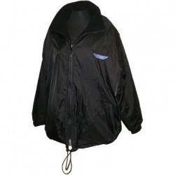 Ettore Fleeced Lined Shower Proof Coat - Black