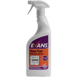 Evans Clean Fast Washroom Cleaner RTU 750ml