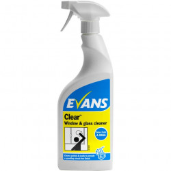 Evans Clear Window & Glass Cleaner in a 750ml Trigger Spray