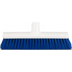 "Hygienic Broom head 30cm/12"", soft, blue bristles"
