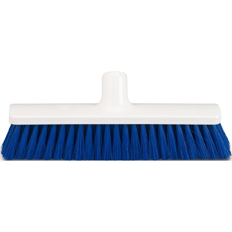 "Hygienic Broom head 30cm/12"", soft, blue bristles"