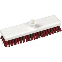 "Hygienic scrubber head 12"" stiff red bristles"