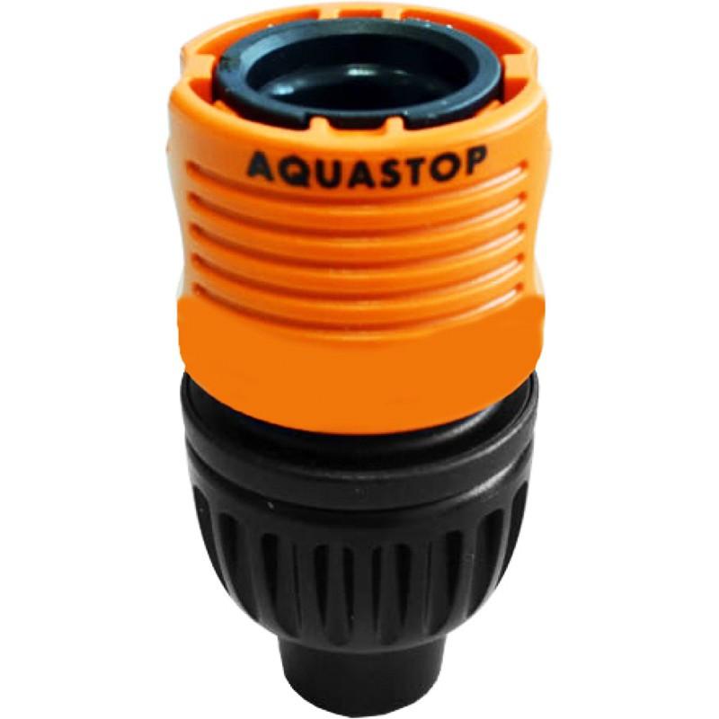 Aquastop hose connector for microbore/minibore