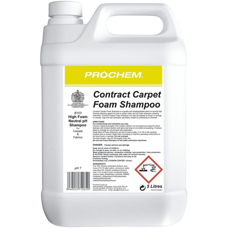 Prochem Contract Carpet Foam Shampoo 5L