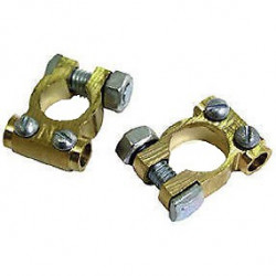 Brass Battery terminal set