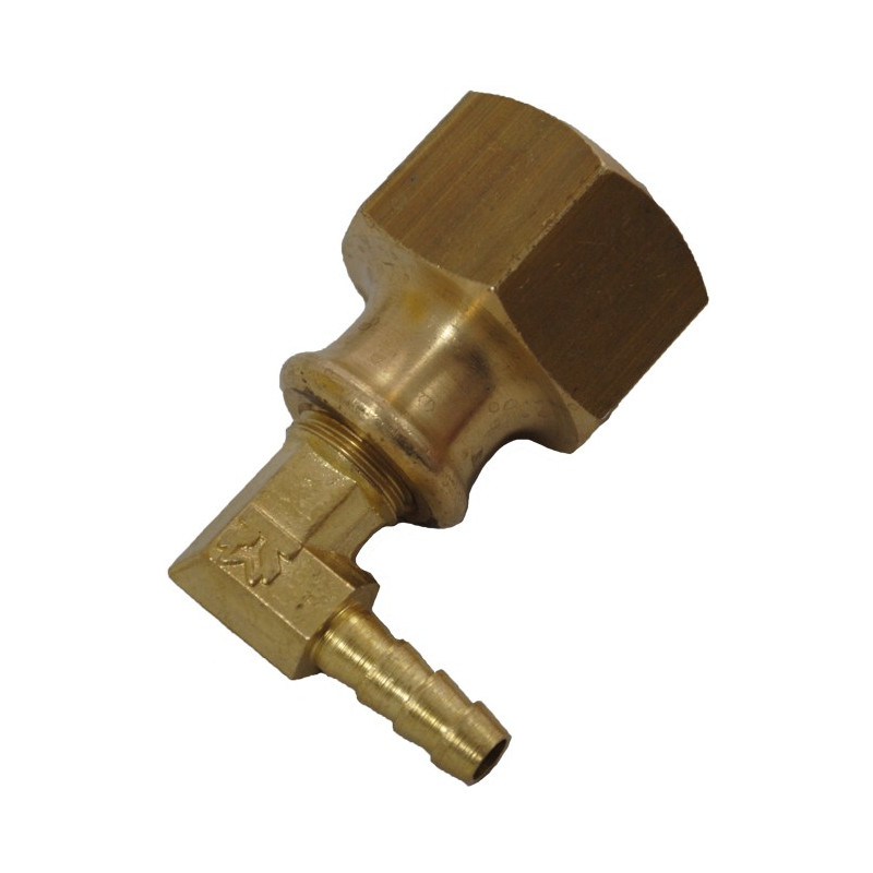 Brass Elbow Adapter Complete for Metal Hose Reel for Microbore 6mm