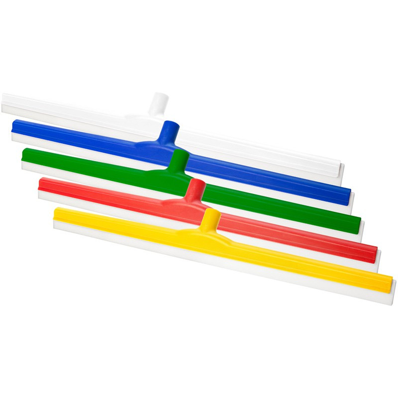 Blue hygienic squeegee 60cm with white natural rubber