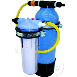 Water softener resin and parts